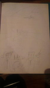 My rough sketches for issue #1, page 7